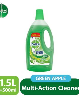 Dettol Multi Action Cleaner 1.5L+FOC 500ml (Lavender/ Green Apple/ Jasmine/ Citrus)