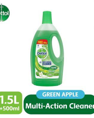 Dettol Multi Action Cleaner 1.5L+FOC 500ml (Lavender/ Green Apple/ Jasmine/ Citrus)