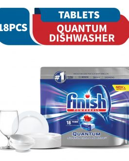 Finish Quantum Power Ball Dishwasher Cleaning Tablets 18 pieces