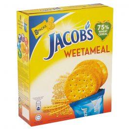 Jacob's Multi Pack Hi-Fibre Wholegrain Crackers 8 Packs 209.6g – 4074973