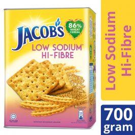 Jacob's Tin Low Sodium High Fibre (HI-FIBRE) Cream Crackers 700g – 4076635