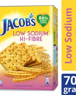 Jacob's Tin Low Sodium High Fibre (HI-FIBRE) Cream Crackers 700g – 4076635