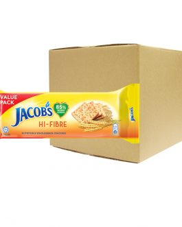 Jacob's Value Pack Hi-Fibre Cream Crackers 355g – 4074967