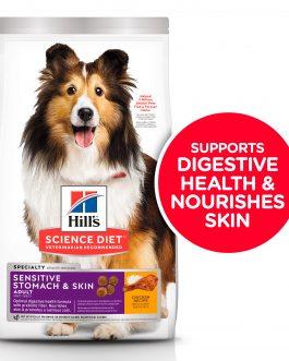 Hill's Science Diet Adult Sensitive Stomach & Skin Chicken Recipe 1.8kg