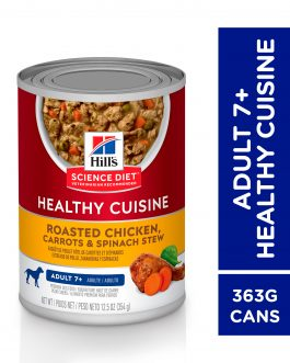Hill's Science Diet Adult 7+ Healthy Cuisine Roasted Chicken, Carrots & Spinach Stew 354g
