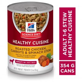 Hill's Science Diet Adult Healthy Cuisine Roasted Chicken, Carrots & Spinach Stew 354g -10450