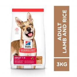 Hill's Science Diet Adult Canine Small Bites Lamb Meal & Rice 3kg – 1114HG