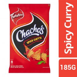 Twisties Chacho's Spicy Curry Tortilla Corn Chips 185g – 4049274