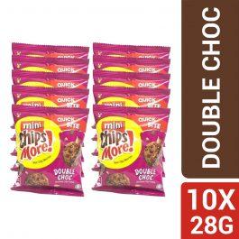 Mini ChipsMore! Double Choc Chocolate Chip Cookies (10 X 28g)  – 4085548