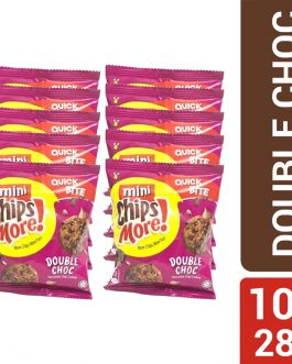 Mini ChipsMore! Double Choc Chocolate Chip Cookies (10 X 28g)  – 4085548
