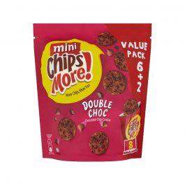 Mini ChipsMore! Double Choc Chocolate Chip Cookies 8 x 28g – 4085544