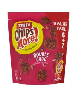 Mini ChipsMore! Double Choc Chocolate Chip Cookies 8 x 28g – 4085544