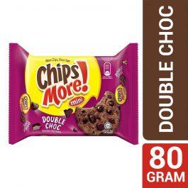 Mini ChipsMore! Double Choc Chocolate Chip Cookies 80g – 4085542