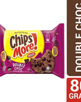 Mini ChipsMore! Double Choc Chocolate Chip Cookies 80g – 4085542