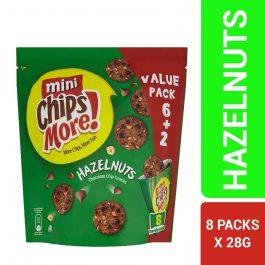 Mini ChipsMore! Hazelnuts Chocolate Chip Cookies 8 x 28g – 4253953
