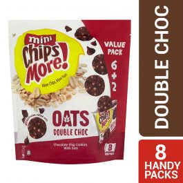 ChipsMore! Oats Double Choc Chocolate Chip Cookies Multipack 8 x 28g – 4085315