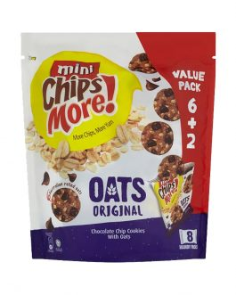 ChipsMore! Oats Original Chocolate Chip Cookies Multipack 8 x 28g – 4085313