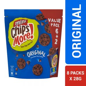 Mini ChipsMore! Original Chocolate Chip Cookies 8 x 28g – 4085540