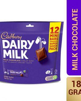 Cadbury Dairy Milk Milk Chocolate Doybag 12 Mini Bars 180g – 4058136