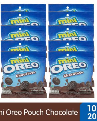 Mini Oreo Chocolate Sandwich Cookies with Chocolate Creme Flavored Cream Pouch (10 X 20.4g) – 4253217