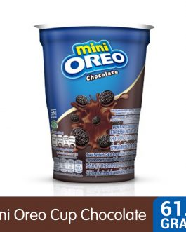 Mini Oreo Chocolate Sandwich Cookies with Chocolate Creme Flavored Cream Cup 61.3G – 4253220