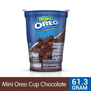 Mini Oreo Chocolate Sandwich Cookies with Chocolate Creme Flavored Cream Cup 61.3G – 4253220