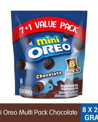 Mini Oreo Chocolate Sandwich Cookies with Chocolate Creme Flavored Cream 8 Packs x 20.4g (163.2g) – 4253211