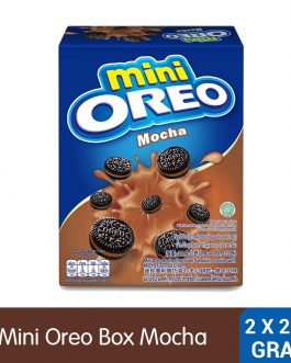 Mini Oreo Original Chocolate Sandwich Cookies with Mocha Flavored Cream Box (Pack of 2 x 20.4G) – 4253446
