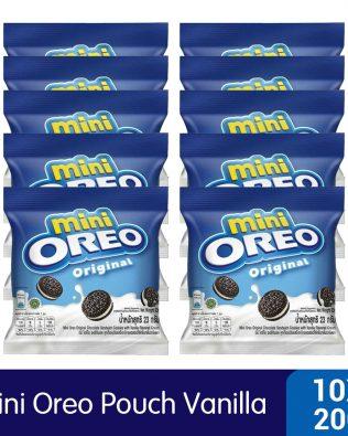 Mini Oreo Original Chocolate Sandwich Cookies with Vanilla Flavored Cream Pouch (10 X 20.4g) – 4253218