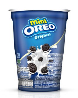 Mini Oreo Original Chocolate Sandwich Cookies with Vanilla Flavored Cream Cup 61.3G – 4253219