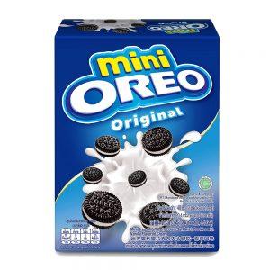 Mini Oreo Original Chocolate Sandwich Cookies with Vanilla Flavored Cream Box (Pack of 2 x 20.4G) – 4253447