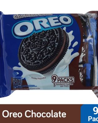 Oreo Chocolate Sandwich Cookies with Chocolate Creme Flavored Cream Multi Pack (9 X 28.5G) – 4252363