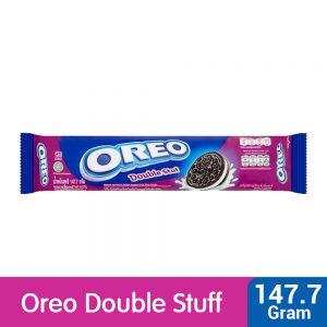 Oreo Double Stuf Chocolate Sandwich Cookies with Vanilla Flavored Cream 147.7g – 4252357
