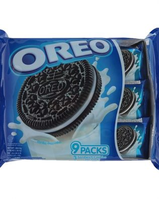 Oreo Original Chocolate Sandwich Cookies with Vanilla Flavored Cream Multi Pack (9 X 28.5G) – 4252352
