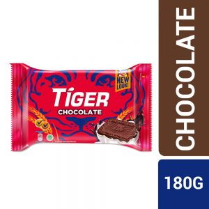 Tiger Plain Sweet Chocolate Flavoured Biscuits Medium Pack 180G – 4037219