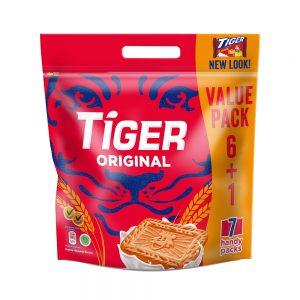 Tiger Plain Sweet Original Flavoured Biscuits Multi Pack 7 X 60G – 4252158