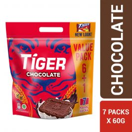 Tiger Plain Sweet Chocolate Flavoured Biscuits Multi Pack 7 X 60G – 4252240