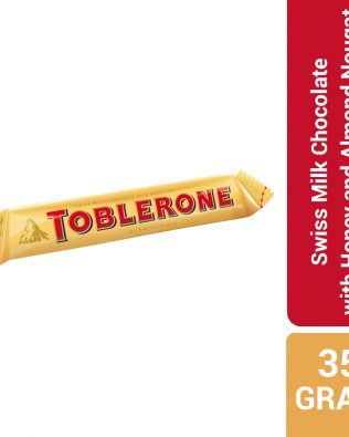 Toblerone Swiss Milk Chocolate with Honey and Almond Nougat 35G – 4047317