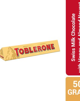 Toblerone Swiss Milk Chocolate with Honey and Almond Nougat 50G – 4047301
