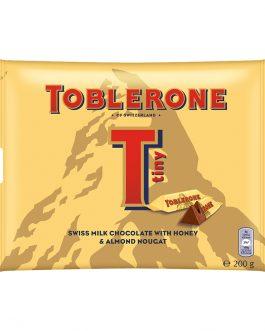 Toblerone Tiny Swiss Milk Chocolate with Honey & Almond Nougat Sharebag 200g – 4011313