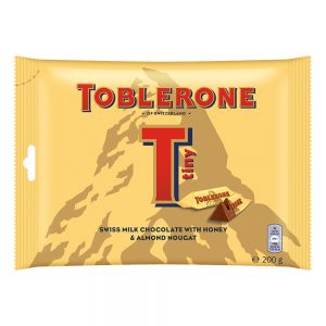 Toblerone Tiny Swiss Milk Chocolate with Honey & Almond Nougat Sharebag 200g – 4011313