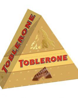 Toblerone Pyramid Swiss Milk Chocolate with Honey and Almond Nougat 8 Bars x 35g (280g) – 4256540