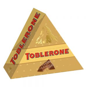 Toblerone Pyramid Swiss Milk Chocolate with Honey and Almond Nougat 8 Bars x 35g (280g) – 4256540