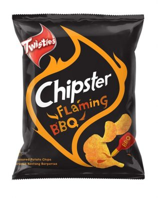 Twisties Chipster Flaming BBQ Flavoured Potato Chips 60g – 4049261
