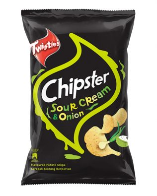 Twisties Chipster Sour Cream & Onion Flavoured Potato Chips 160g – 4049257