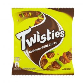Twisties Kaboom! Flavoured Corn Snacks Spiced BBQ Curry Flavour 15G