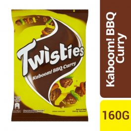 Twisties Kaboom! Flavoured Corn Snacks Spiced BBQ Curry Flavour 160g-4027042