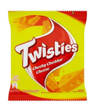 Twisties Flavoured Corn Snacks Cheeky Cheddar Cheese Flavour 15G