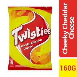 Twisties Flavoured Corn Snacks Cheddar Cheese Flavour 160g – 4027048