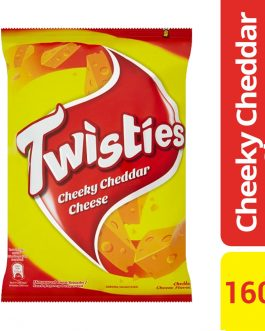 Twisties Flavoured Corn Snacks Cheddar Cheese Flavour 160g